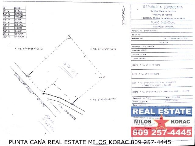 Carretera Bavaro Veron land lot for sale