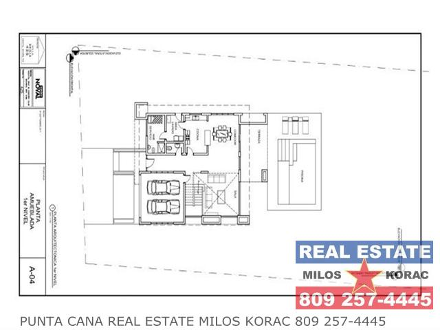 Villa Brisas Cocotal first floor plan