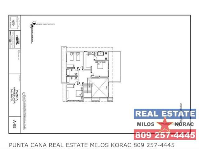 Villa Brisas Cocotal second floor plan