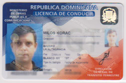 Dominican drivers license