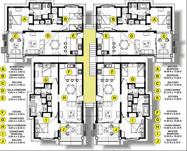 Golf club apartments floor plans Golf course house plans