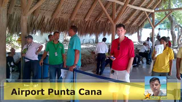 Milos Korac on the airport Punta Cana