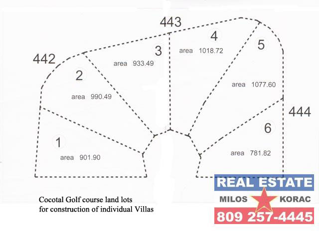 Cocotal Golf land lots Villa construction for sale