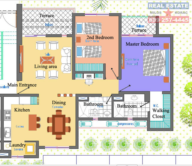 El Cortecito Sol Tropical apartments plans