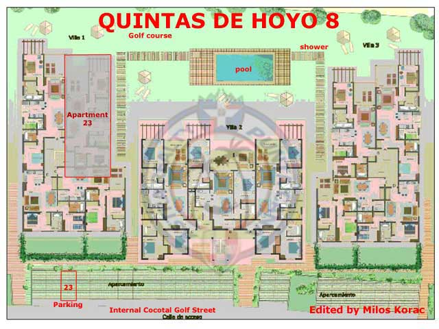 Quinas de Hoyo 8 location of apartment 23